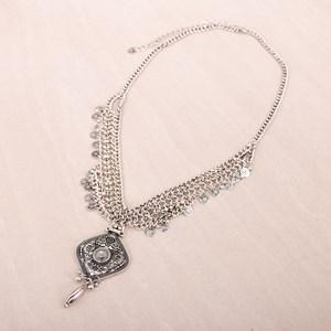 Medallion and Droplets Chain Boho Belt