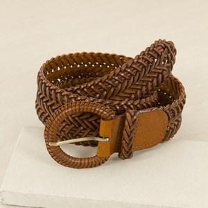 Covered Ring Plaited Mid Belt