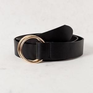 Athena Circle Buckle Vegan Leather Belt
