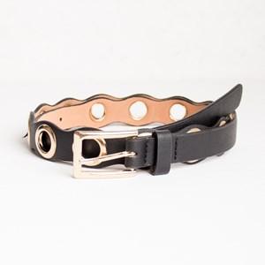 Harlow Eyelet Detail Vegan Leather Belt