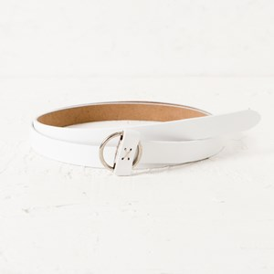 Charli Thin Circle Buckle Vegan Leather Belt