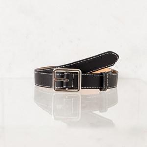 Cara Rectangle Buckle Vegan Leather Belt