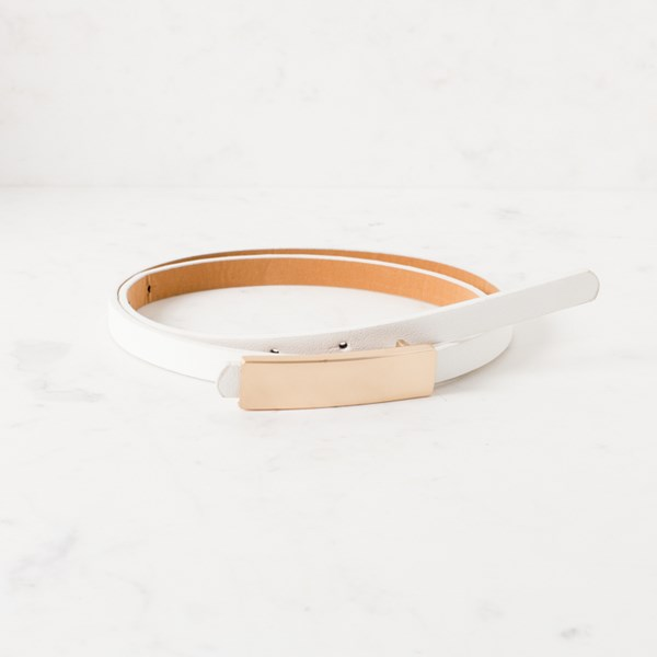 Ava Buckle Vegan Leather Belt