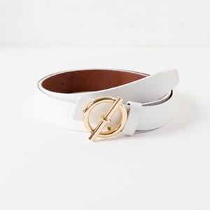 Laurent Chic Buckle Vegan Leather Belt