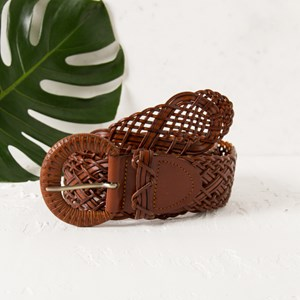 Cadence Weave Leather Belt