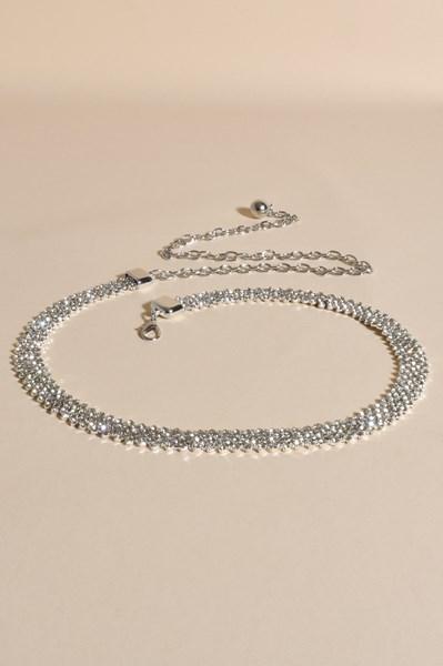 Diamante Rows Chain Back Belt