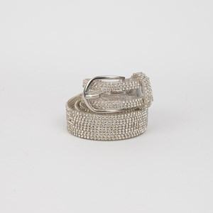 Small Clear & Diamante Belt