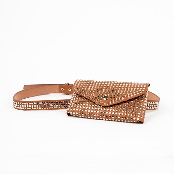The Kate Studded Slim Vegan Leather Belt Bag
