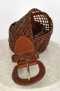 Rodeo Drive Woven Leather Belt