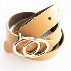 Uptown Girl Metal Rings Vegan Leather Belt