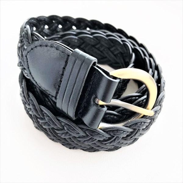 Narrow Plaited Vegan Leather Belt