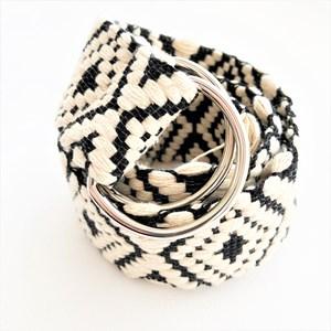 Diamond Weave Adjustable Fringe End Belt