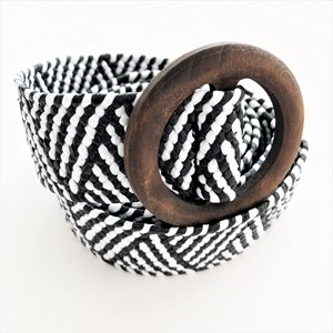 Timber Ring Buckle Triangle Weave Belt