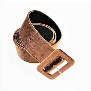 Covered Rectangle Velvet Belt