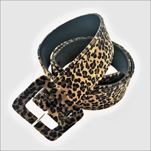 Cheetah Print Covered Buckle Belt