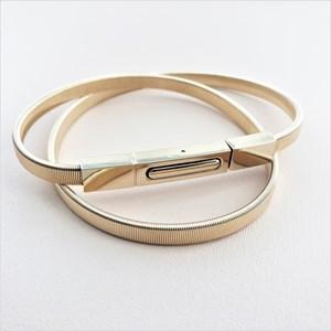 Slim Rectangle Buckle Slinky Belt
