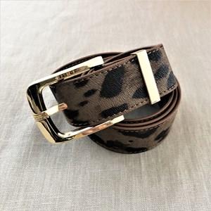 Small Leopard Print Belt