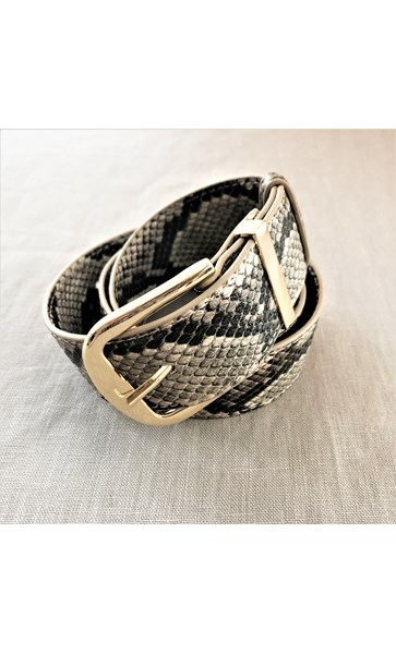 Small Snake Print Belt