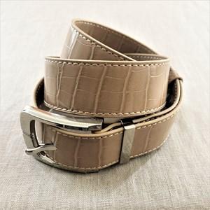 Medium Croc Embossed Belt