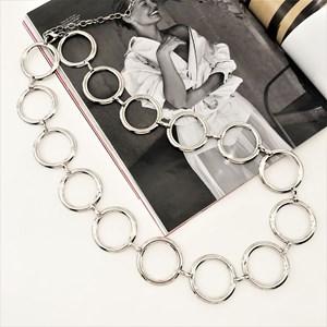 Blogger Metal Rings Linked Belt