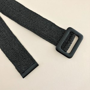 Stretch Weave Rectangle Buckle Belt