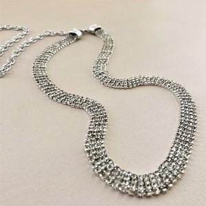Diamante Mesh Chain Back Belt