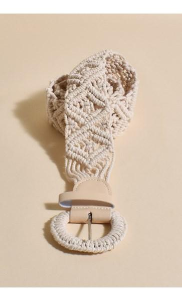 Macrame Diamond Weave Buckle Belt