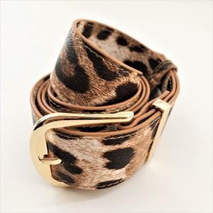 S/M Elle Light Leopard Print Belt