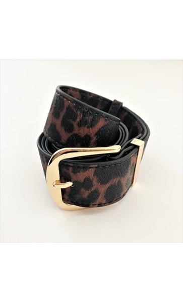 S/M Nadia Leopard Print Belt