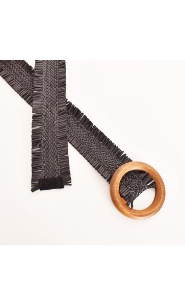 Plait & Fringe Faux Leather Belt