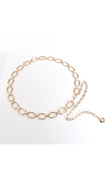 Rectangle Linked Chain Belt