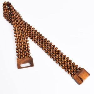 Timber Bead Stretch Belt