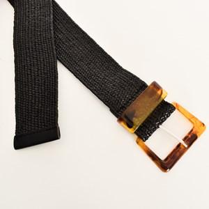 Resin Buckle & Keeper Stretch Belt