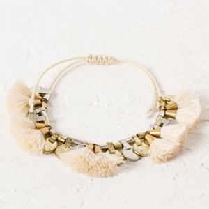Mini Tassel and Disc Bracelet