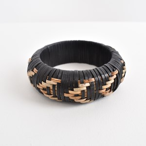 Two Tone Rattan Weave Bangle
