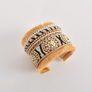 Bead Pattern Curved Cuff