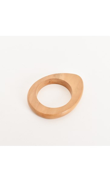 Uneven Curved Timber Bangle
