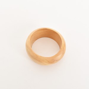 Smooth Rounded Timber Bangle