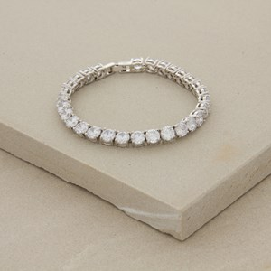 6mm Diamante Tennis 19cm Bracelet