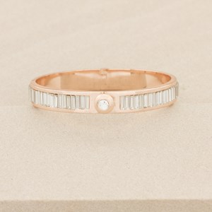 Baguette Diamante Button Hinge Bracelet