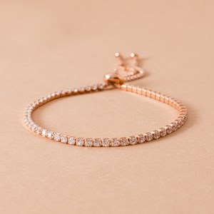CZ Fine Diamante Adjustable Bracelet