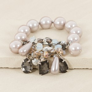 Jewel & Pearl Mix Cuff