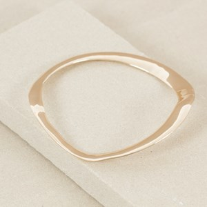 Abstract Wave Metal Bangle