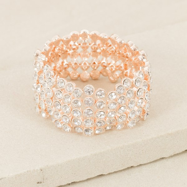 Rubover Jewelled 5 Row Cuff