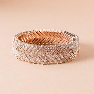 Diamante Stacked V Cuff