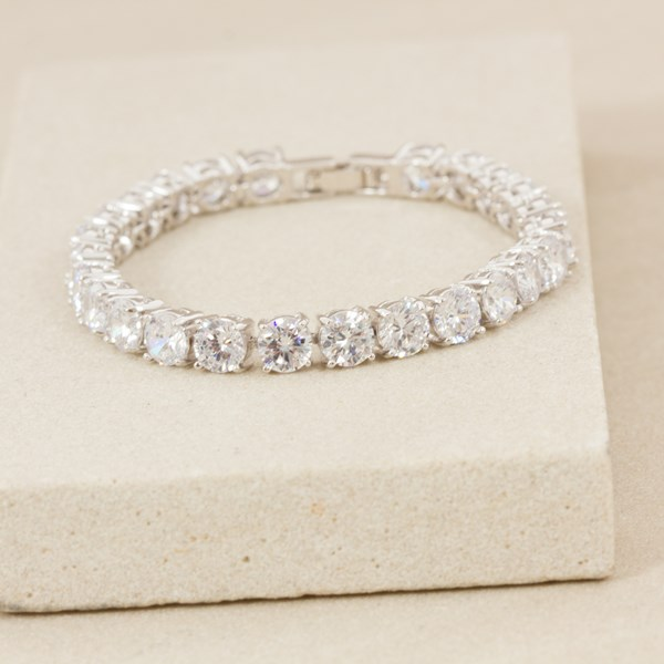 6mm Diamante Tennis 17cm Bracelet