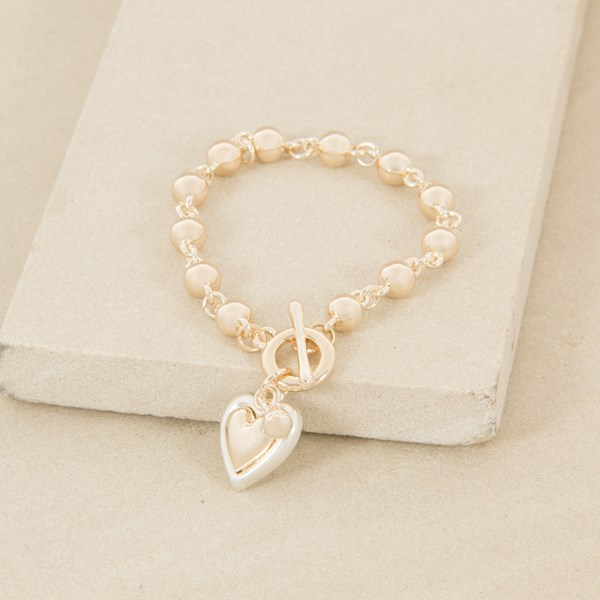 20cm Hand link Ball with Heart Bracelet
