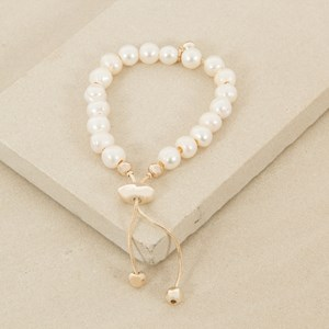 Adjustable Large Freshwater Pearl Bracelet