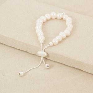Adjustable Large Freshwater Pearl Bracelet