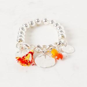 Ball Chain and Charm Tassel Bracelet